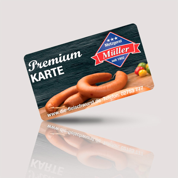 Projekt Premium Karte Metzgerei Müller